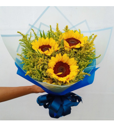 send 3 stems sunflower in bouquet to cebu