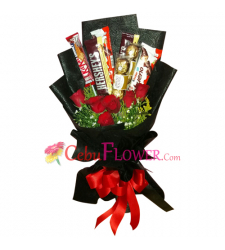 send assorted chocolate and roses bouquet to cebu