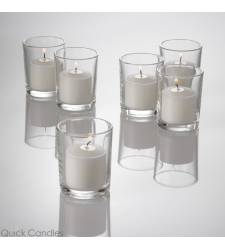​6pcs Plain White Candle in a Glass to Cebu City