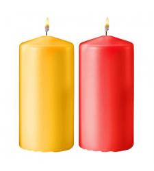2pcs Colorful Medium Size Candles Cebu City