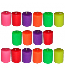 16 pcs slim multicolor candles to Cebu City