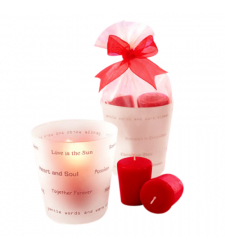 send romantic frosted evening candels to cebu city