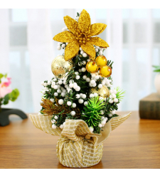 send 20cm gold mini christmas tree to cebu