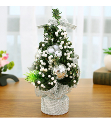 send 20cm silver mini decorated christmas tree to cebu