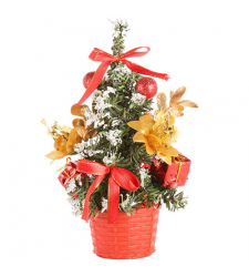 send 1 feet red christmas mini-tree to cebu