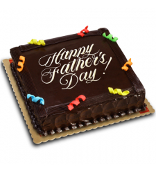 fathers day chocolate dedication cake by red ribbon to cebu