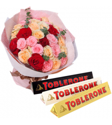 send 36 mixed roses with toblerone chocolate to cebu