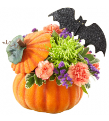 send pumpkin flower arrangement to cebu philippines