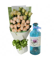 send 36 roses bouquet with bottle message to cebu
