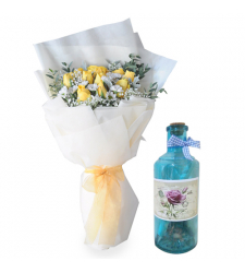 send 12 yellow roses with message in bottle to cebu