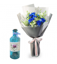 send 12 blue roses with bottle message to cebu