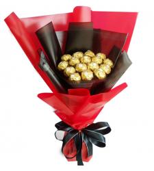Dozen of Ferrero Rocher Chocolates Bouquet