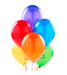 6 Pcs. Colorful Latex Balloon