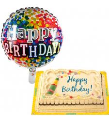 Marble Chiffon Cake with Birthday Balloon