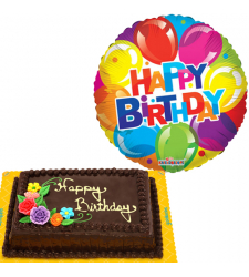 Birthday Choco Chiffon Cake with Mylar Balloon