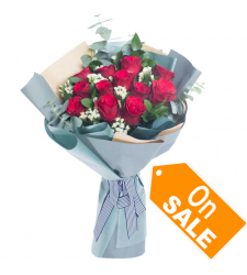 send special 12 red roses bouquet to cebu