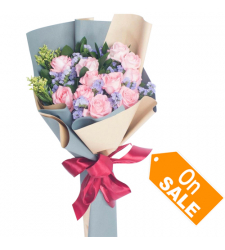 send bouquet of 12 soft pink roses to cebu
