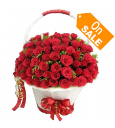send 50 beautiful red roses in basket to cebu