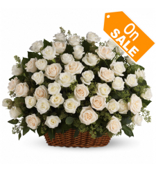 send  24 white roses in basket to cebu in philippines