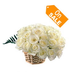 send 12 white roses in basket to cebu in philippines