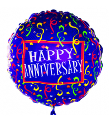 Single Colorful Anniversary Mylar Balloon