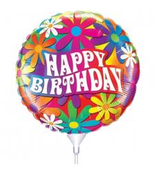 Beautiful Happy Birthday Mylar Balloon