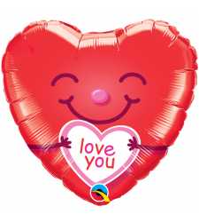Single Pc. I Love You Mylar Balloon