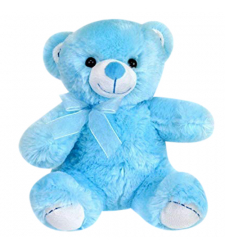 "8"" Inch Blue Color Teddy Bear"