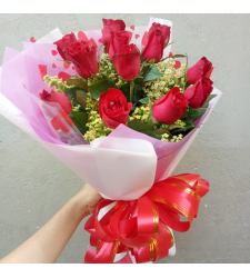 send 12 pcs. red roses in hand bouquet to cebu
