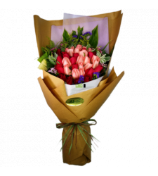 36 Mixed Colors Roses Bouquet