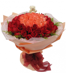 36 Multi Color Rose in Bouquet