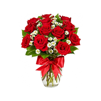 Luxury One Dozen Red Roses  Online Order to Cebu Philippines