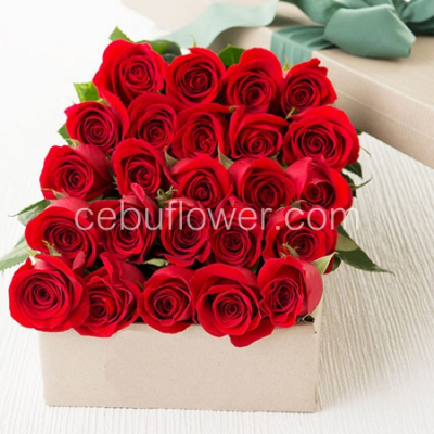 send 24 red roses in box to cebu in philippines