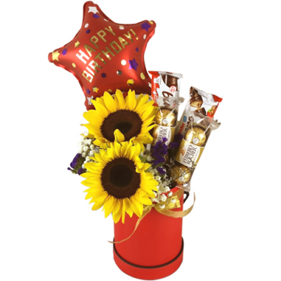 send a box full of chocolate flower and balloon to cebu