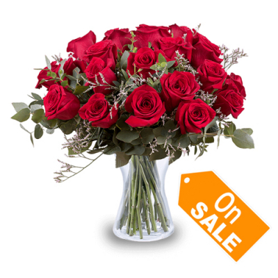 delivery vase of red 18 roses to cebu