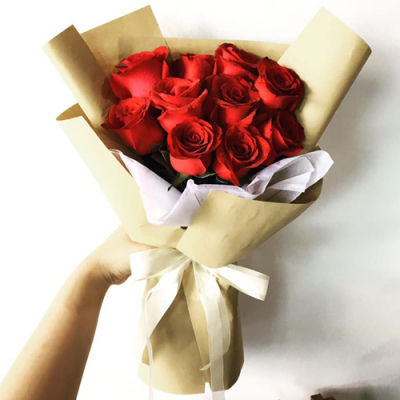 send 12 pcs. fresh red roses in bouquet to cebu