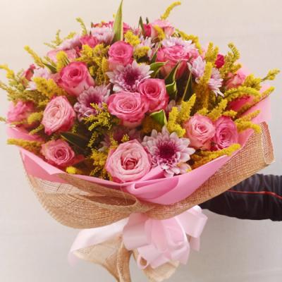 send 2 dozen of fresh pink roses bouquet to cebu