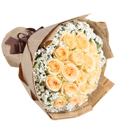 12 peach roses bouquet to cebu
