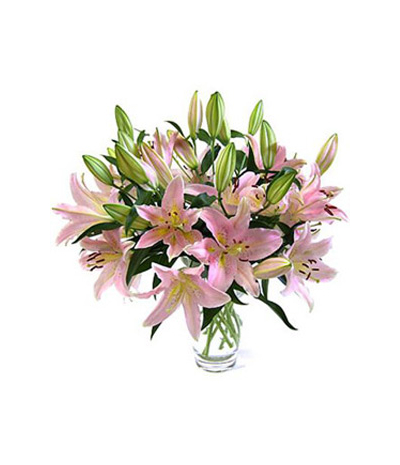 4 stem perfume pink lilies to philippines